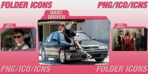 Baby Driver (2017) Folder Icons Pack by ChrisNeville32