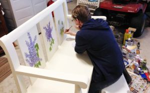 Bench Painting - ID by WitTea