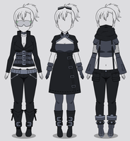 Kisekae Cyberpunk Outfits (w/ codes) by RainbowFan256