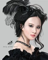 Liu Yi Fei Portrait by Chibi-Jennifer