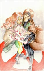 Rogue and Gambit by Nachan