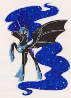 Nightmare moon by ParanoidEmily