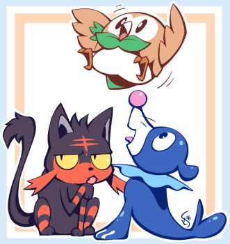 Sun and Moon Starters by Torkirby