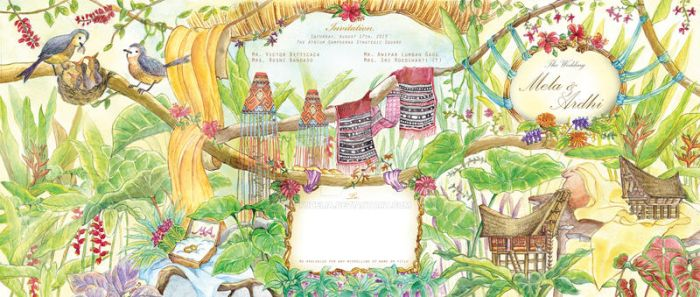 Tropical Forest-Mela and Ardhi Invitation by tudelia