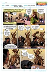 Gutters - Black Panther and Groot by Hominids