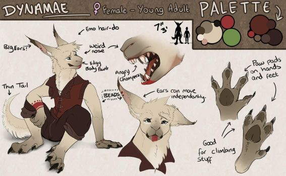 Reference Sheet: Dynamae by GabsterP