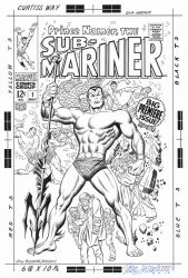 SUB-MARINER #1 (1968) Cover Recreation HAZLEWOOD by DRHazlewood