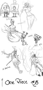 One Piece sketches by Ruk1z