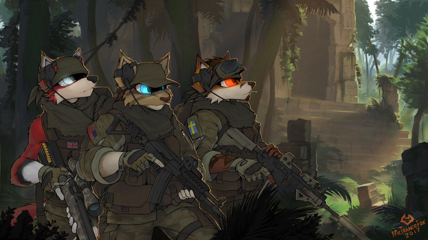 YCH Jungle squad by McTranceFox