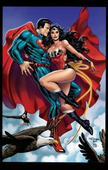 Superman  and Wonder  woman by Vassya