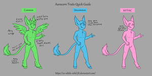 Auracorn Traits Quickguide by Crow-Faced