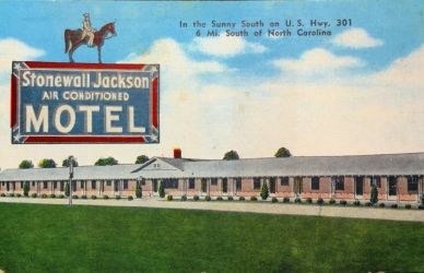 Vintage Motels - The Stonewall Jackson, Dillon SC by Yesterdays-Paper