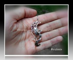 'Moonlight song' pendant by seralune