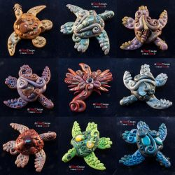 Turtle Brooches by spaceship505