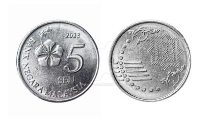 Malaysia 5 Cents Coin by Deming9120