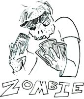 Zombies Vs Humans Cards 16 by SergeXIII
