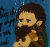 Lord of the Rings Phone Painting Closeup by viciousmischief