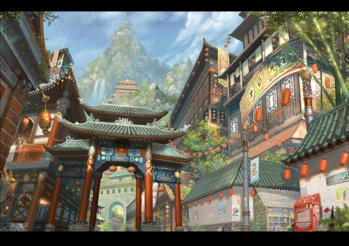 City Scene by ChaoyuanXu