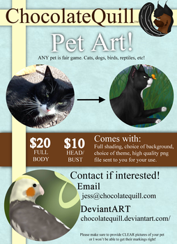 Pet Art Commission Sheet by ChocolateQuill
