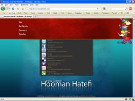 Hooman Hatefi's website by DaRiOuShJh