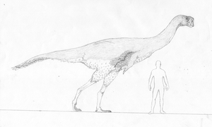 Stem-Bird Files: Giant Hell Creek oviraptorosaur by randomdinos