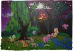 Everfree Forest painting for EQLA 2013 by Sn0wlight