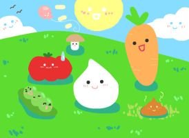 Onion-chan and Friends by veggiefriends