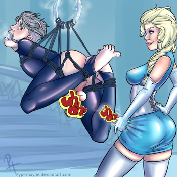 Elsa and Jack Frost CENSORED by pyperhaylie