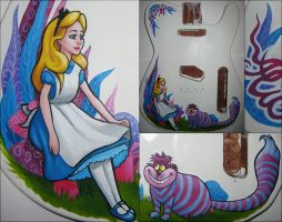 ALICE IN WONDERLAND GUITAR by sickdelusion