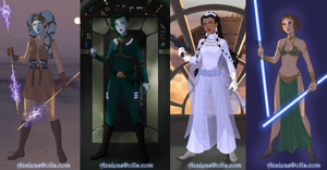 Sci-fi Warrior Dress up Game by AzaleasDolls