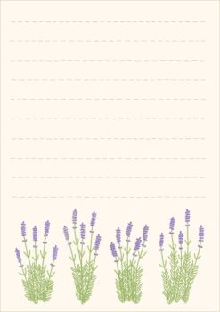 Free Memo Stationary Lavender by Somniculosa
