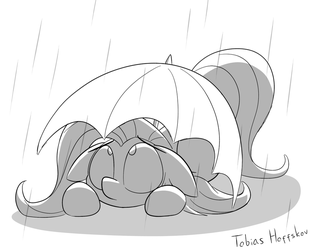 Hiding from the Rain by Fakskis