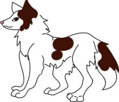 Piebald-Husky Brown Eyed by DemonaTheOperator