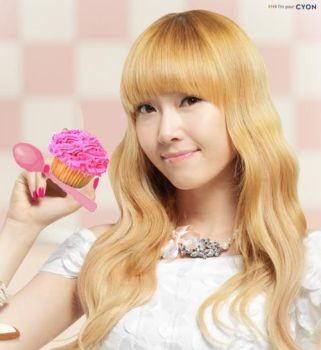 jessica along with her cupcake by geegeemagic