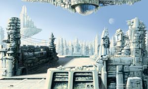 3D Project- Sci-Fi City Illustration by NRG by NRGart7