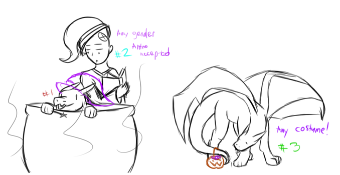 Halloween Dragons YCH Slots Auction CLOSED by DenSunes