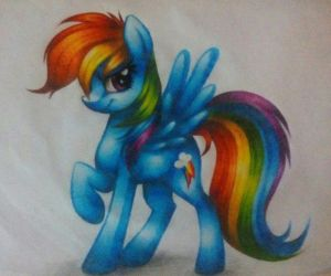 Rainbow Dash-Tradicional/Traditional by AideeMargarita