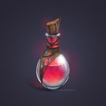 Commission - Health Potion by Anastasia-berry