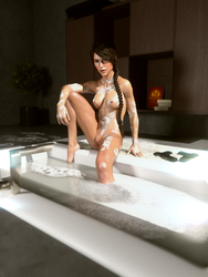 Lara Croft: Bath Time! by JavierMicheal