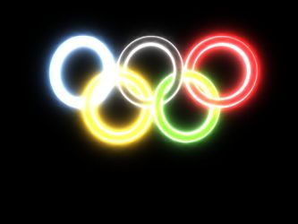 Neon-Glow Olympic Rings by artislight
