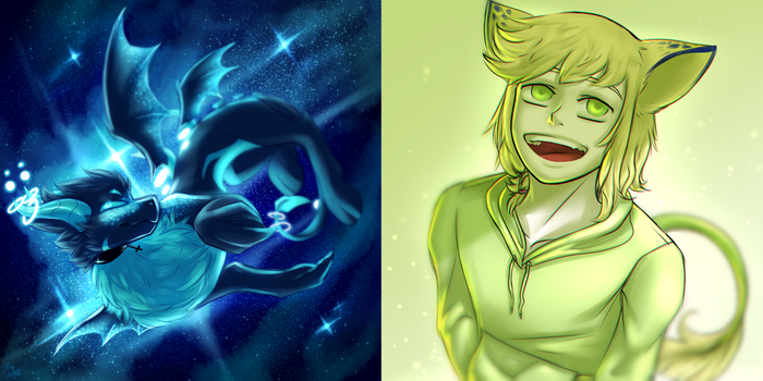 [Contest Prizes] Space waste / green child by glitteronin