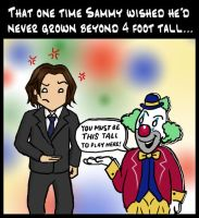 SPN: Clowning Around by blackbirdrose