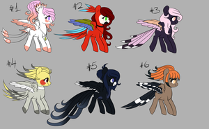 [CLOSED] Bird Themed Pony Adopts by MinElvi