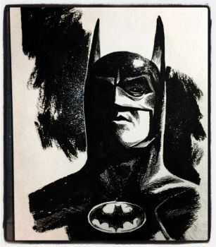 #Inktober 2017 #7 - Batman by B3NN3TT