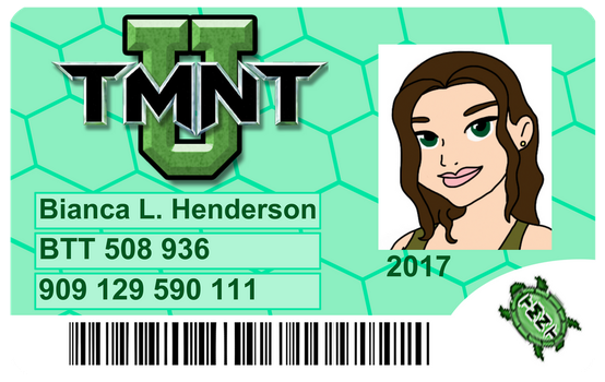 TMNT-U: Bianca Student Card by AncientWhiteFire