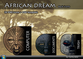 AfricanDream dock icons by Carburator