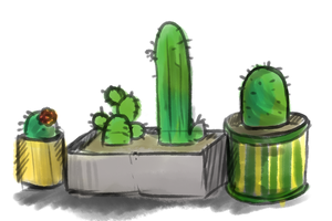 Cacti by Bezrail