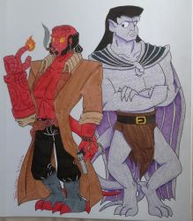 Hellboy and Goliath by TessaLovesOzzy