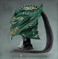 Green Elven Knight Helmet by Azmal