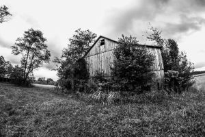 Country Barn HDR BW by SparkVillage
